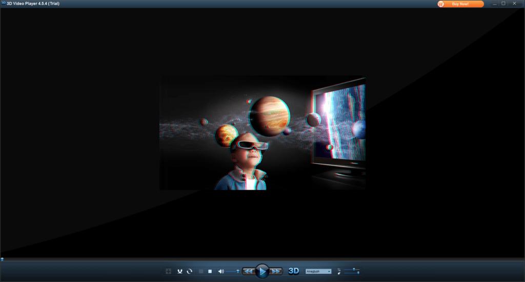 3D Video Player Меню