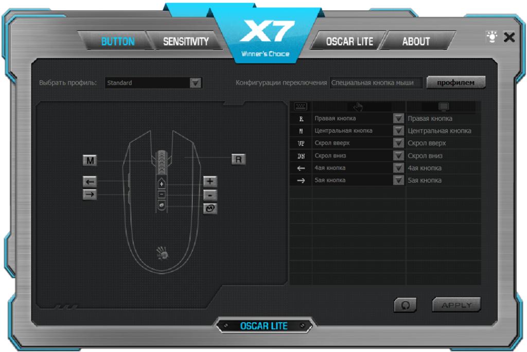 A4Tech X7 Кнопки