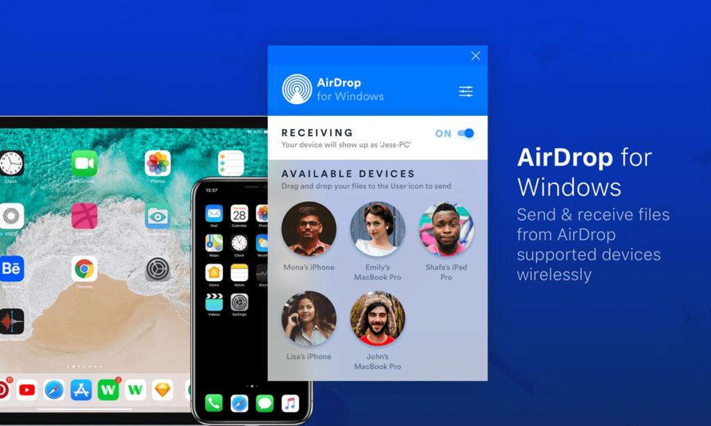 AirDrop Отправка