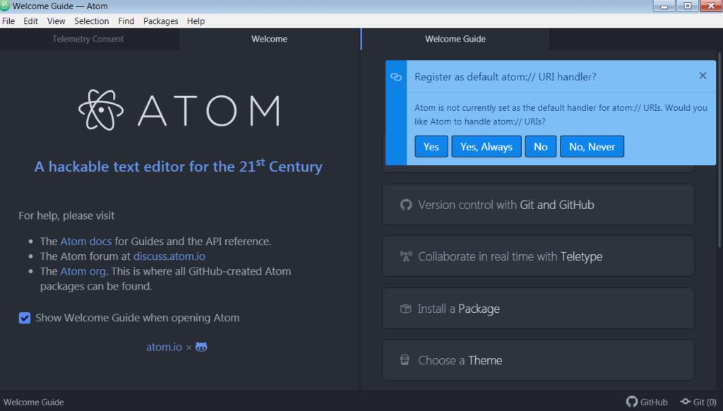 Atom Начало работы