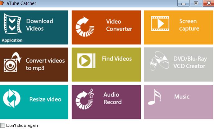 aTube Catcher Раздел инструментов