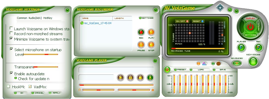 AV VoizGame Настройки