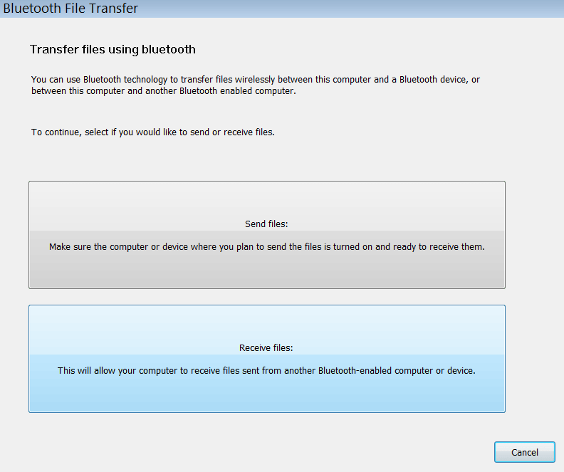 Bluetooth Suite Главное меню