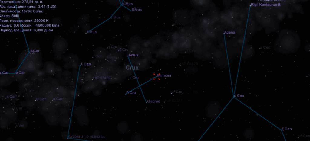 Celestia Наблюдение за планетами