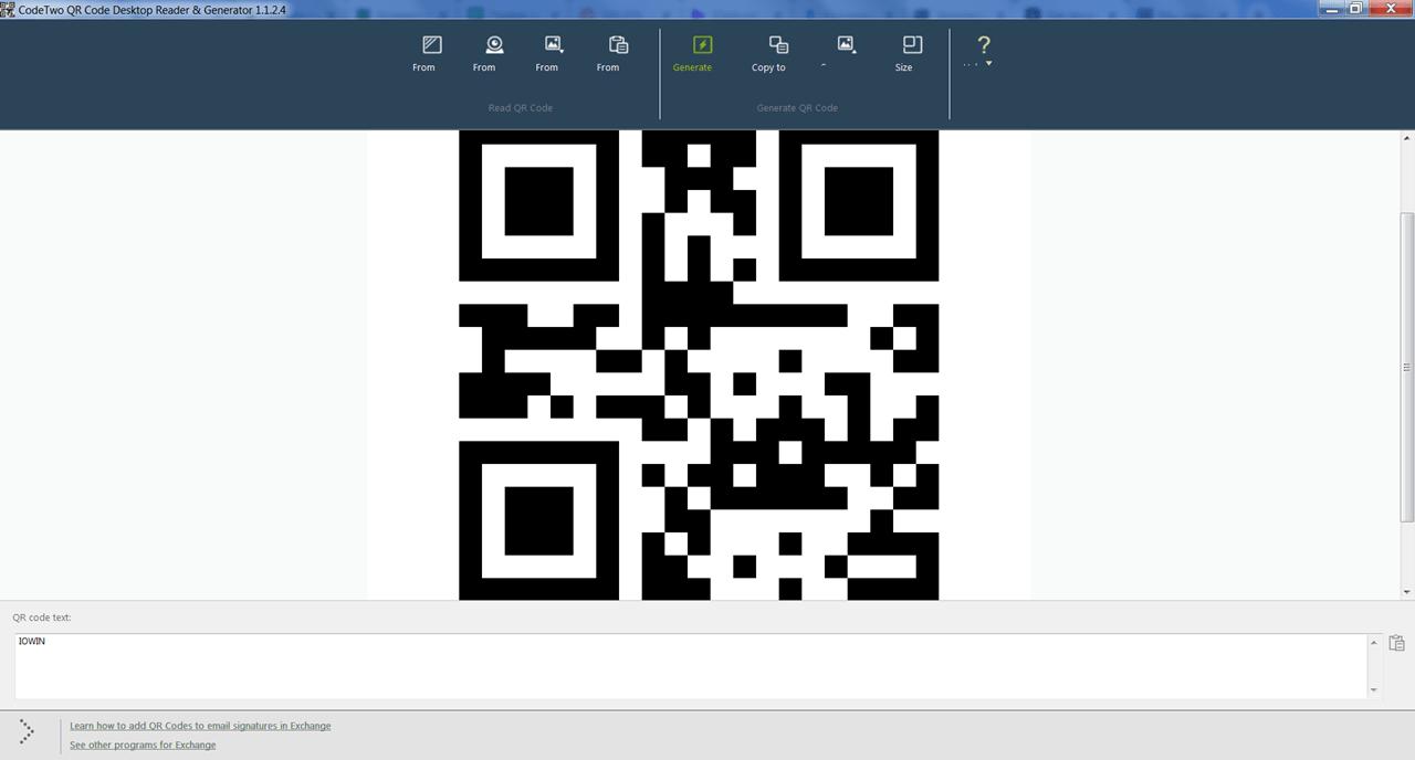 CodeTwo QR Code Desktop Reader Генерация