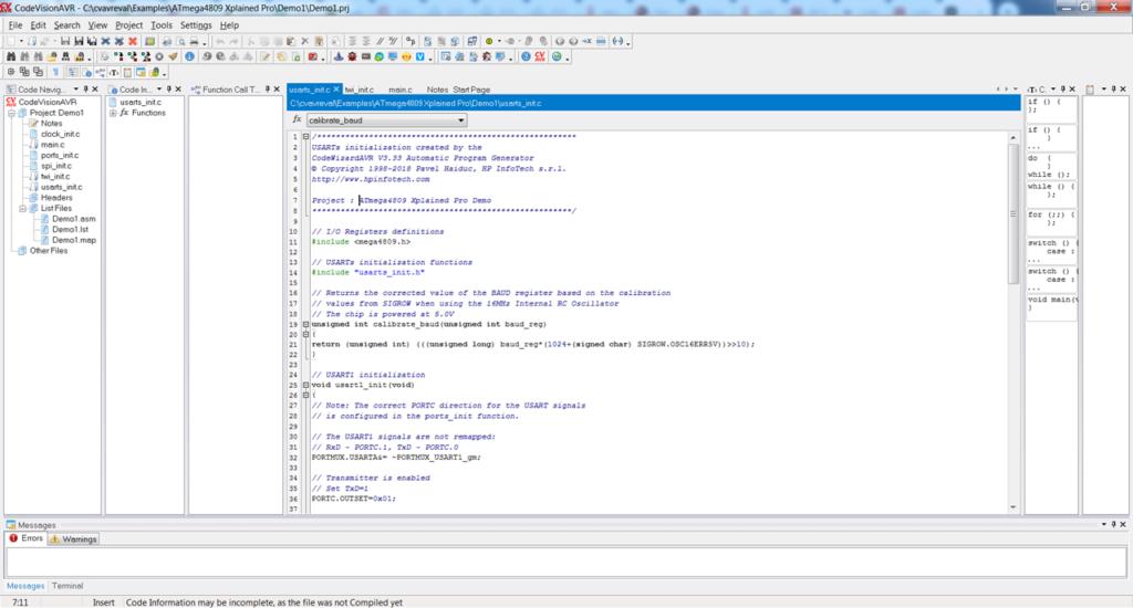CodeVisionAVR Проект