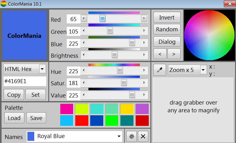 ColorMania Главное окно