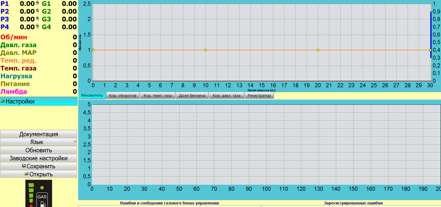 Digitronic maxi Главное окно