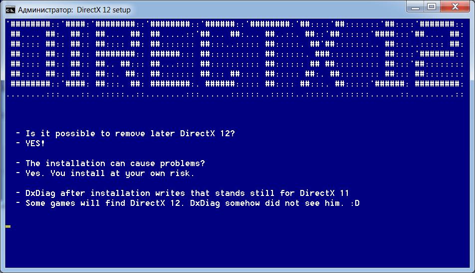 DirectX 12 для Windows 7 Инструкция
