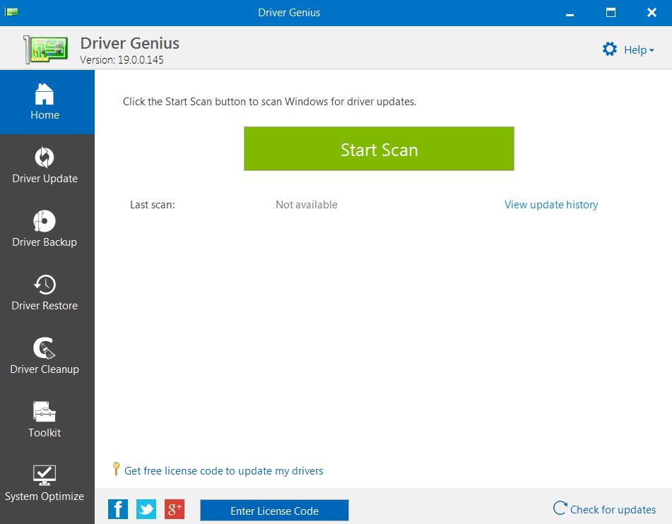 Driver Genius Основное окно