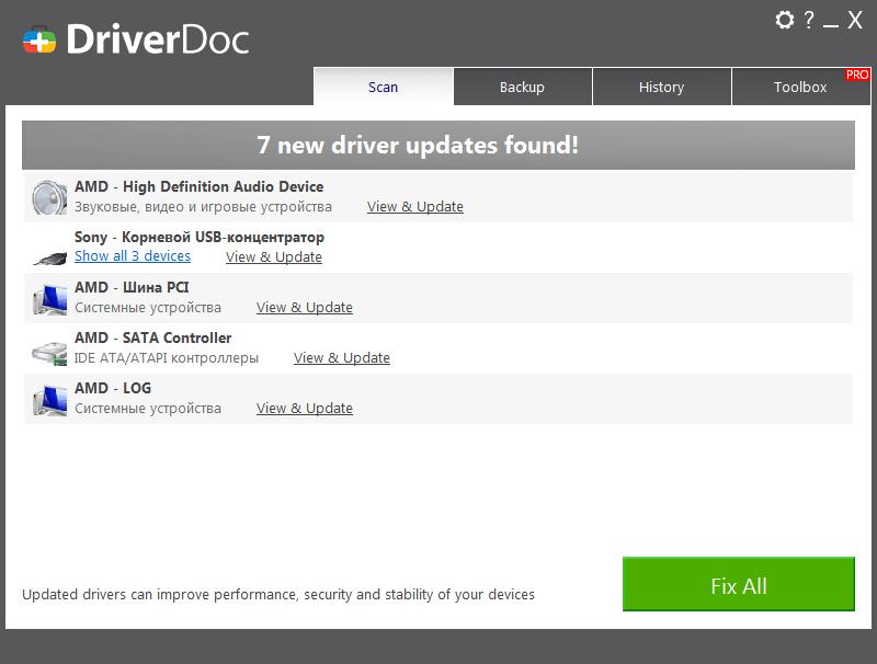 DriverDoc Драйверы