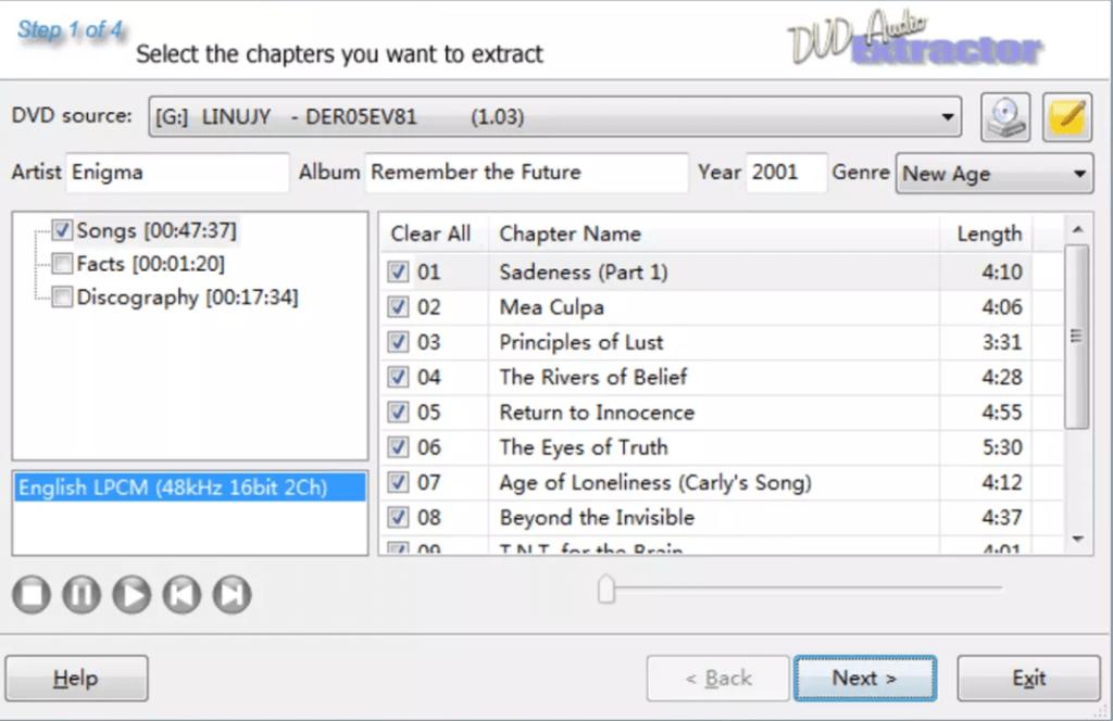 DVD Audio Extractor Начало работы