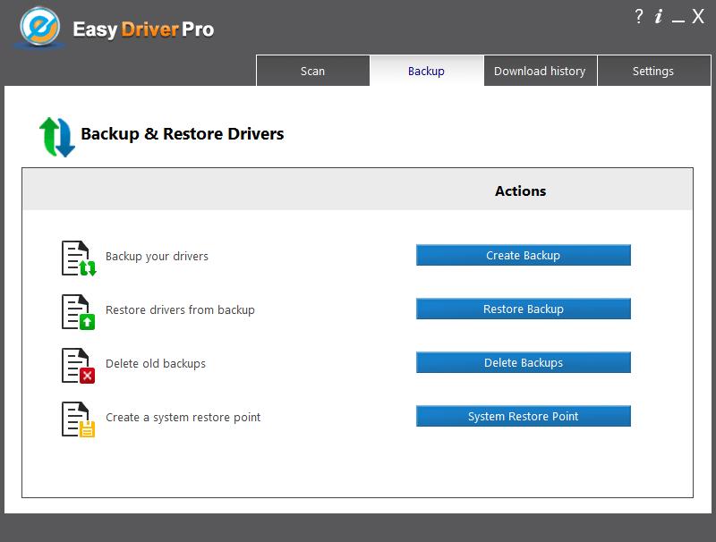 Easy Driver Pro Резервная копия