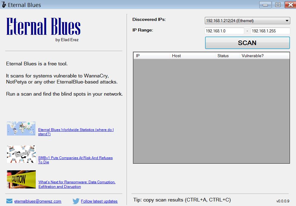 Eternal Blues Главное меню