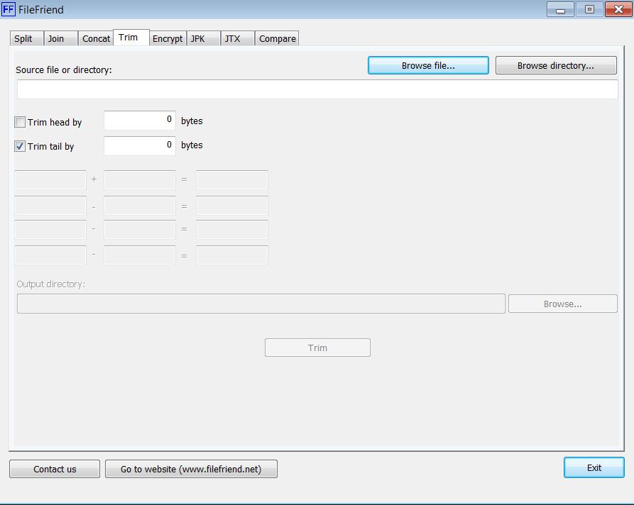 FileFriend Главное меню
