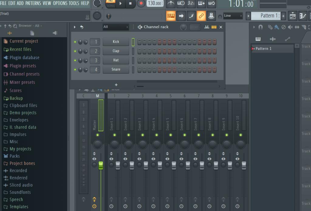 FL Studio Главное меню