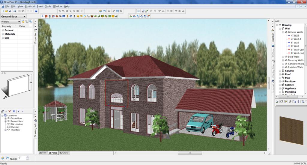 FloorPlan 3D Визуализация