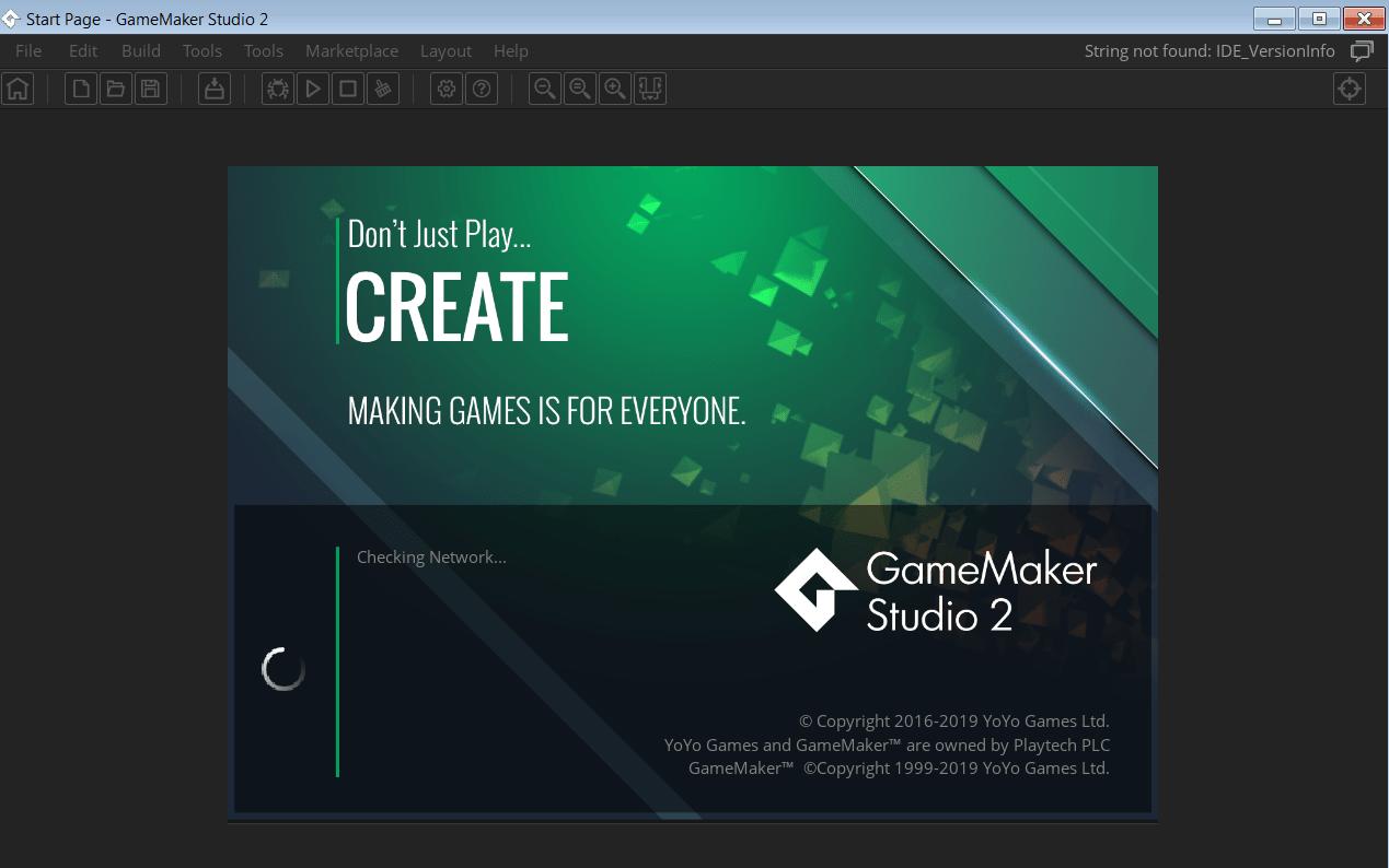 GameMaker Studio Главное меню