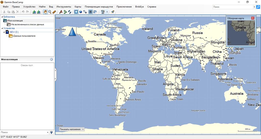Garmin BaseCamp Карта