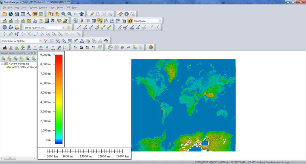 Global Mapper Карта