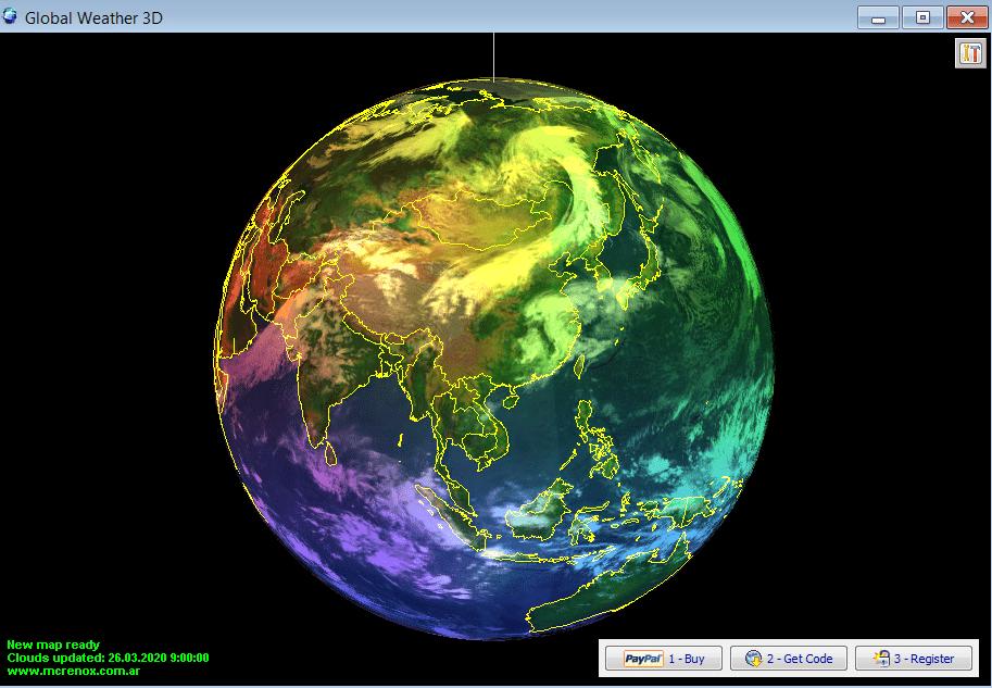 Global Weather 3D Начало работы