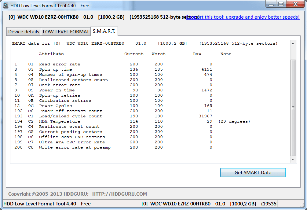 HDD Low Level Format Tool SMART