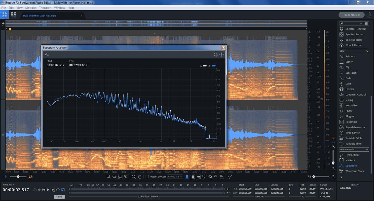 iZotope RX Анализ