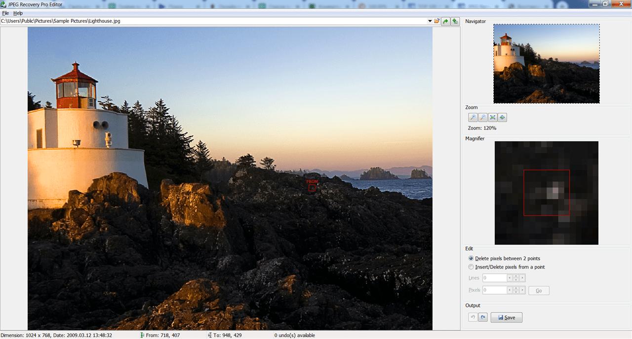 JPEG Recovery Pro Редактор
