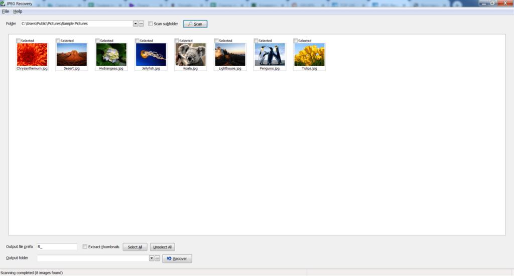 JPEG Recovery Pro Снимки