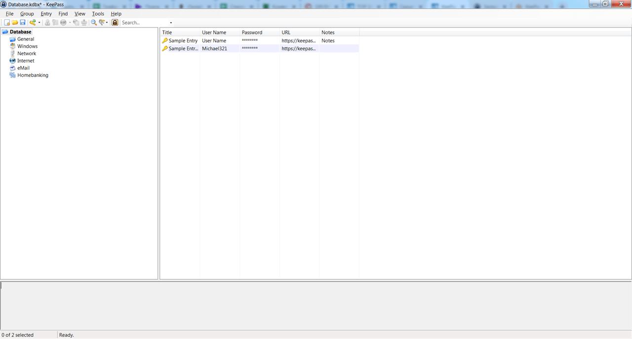 KeePass База данных