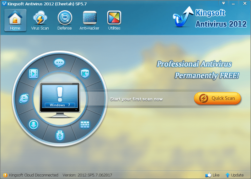 Kingsoft Antivirus Главная