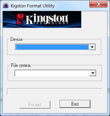 Kingston Format Utility Форматирование