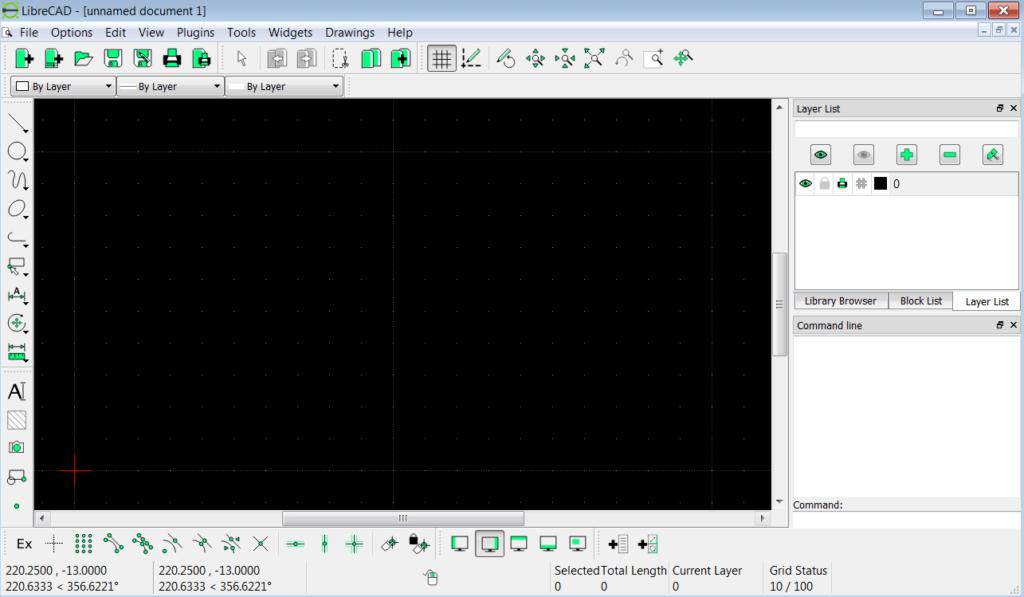 LibreCAD Начало работы