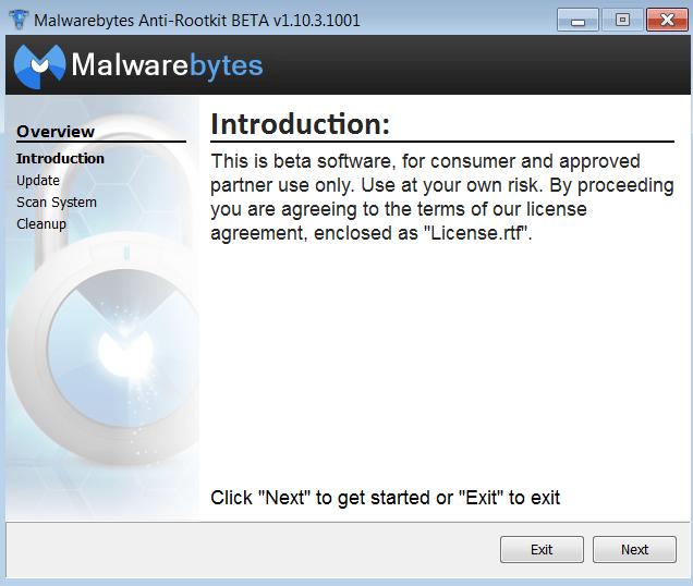 Malwarebytes Anti-Rootkit Обновление баз