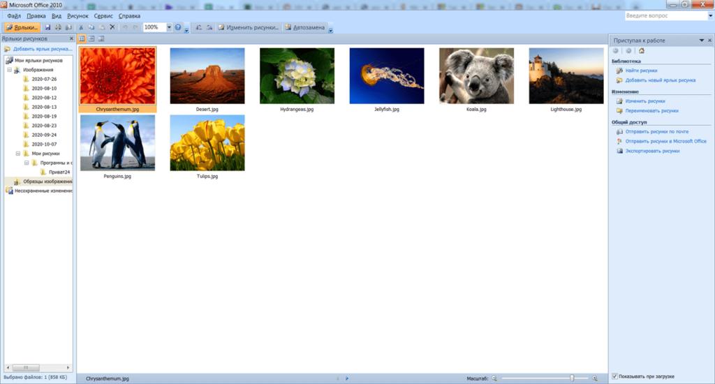 Microsoft Picture Manager Изображения