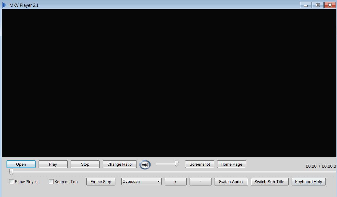 MKV Player Главное меню