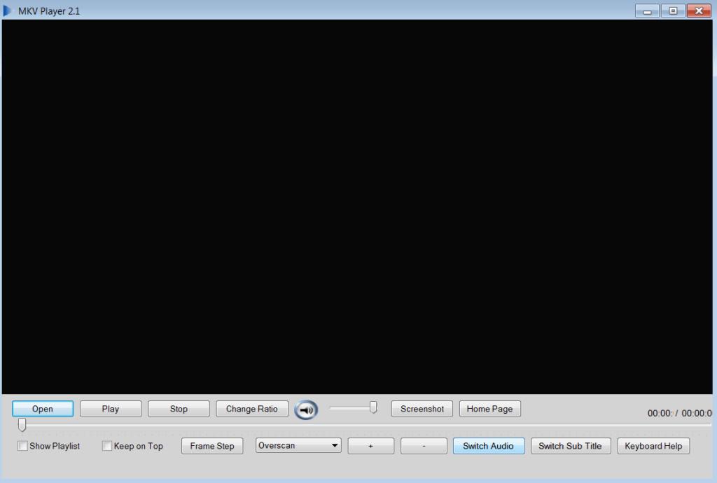 MKV Player Основное окно