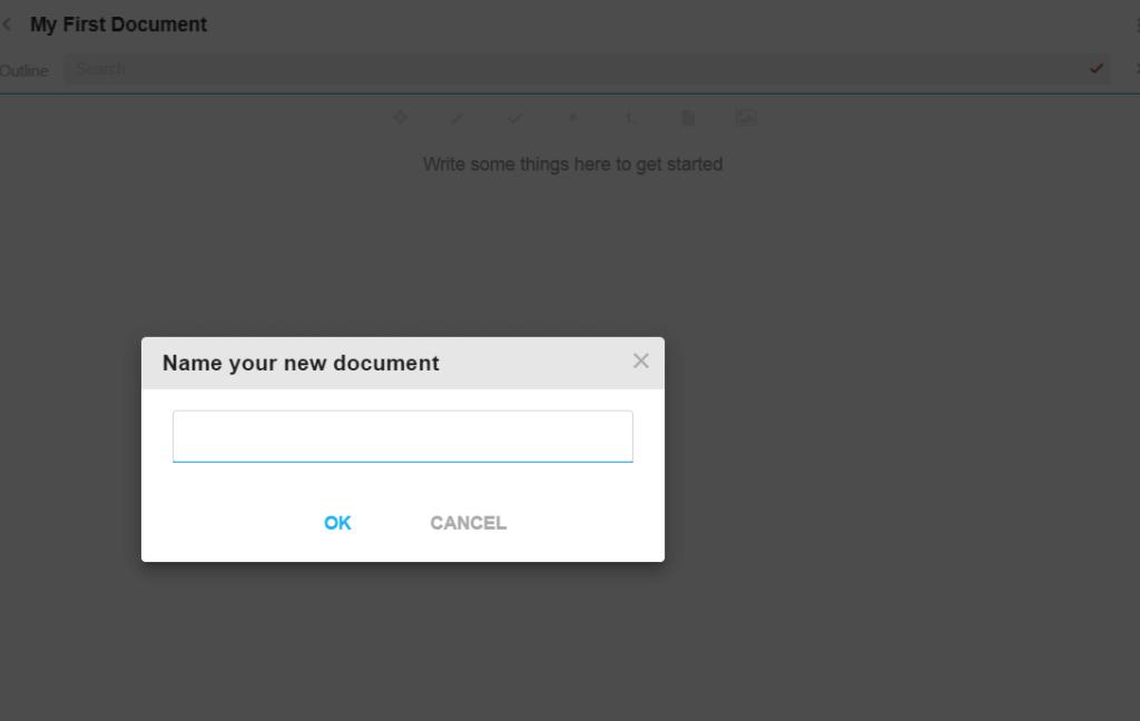 Moo.do Создание нового документа
