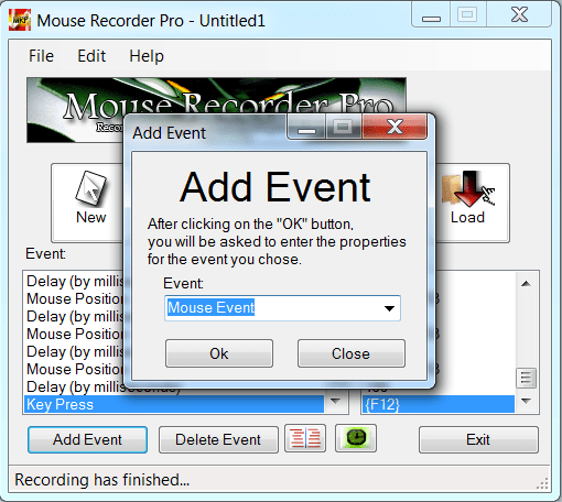 Mouse Recorder Pro Запись