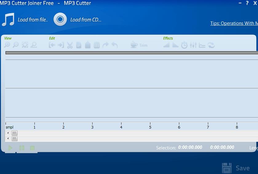 MP3 Cutter Joiner Начало работы