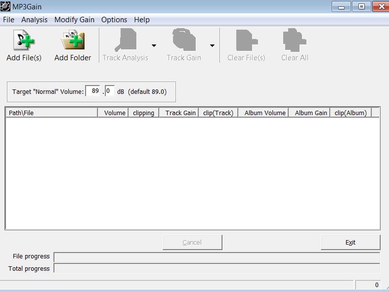 MP3Gain Начало работы