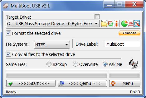 MultiBoot USB Запись