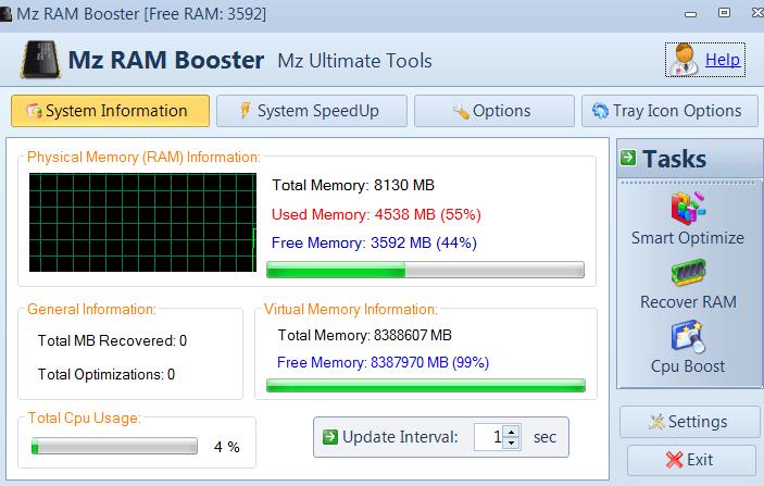 Mz Ram Booster Начало работы
