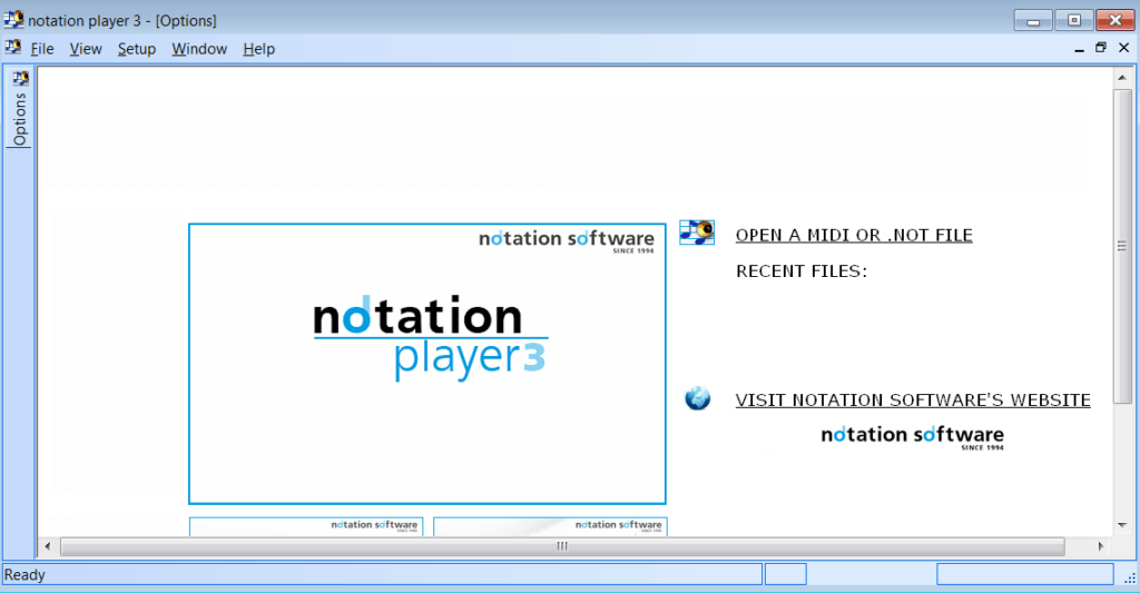 Notation Player Главное окно