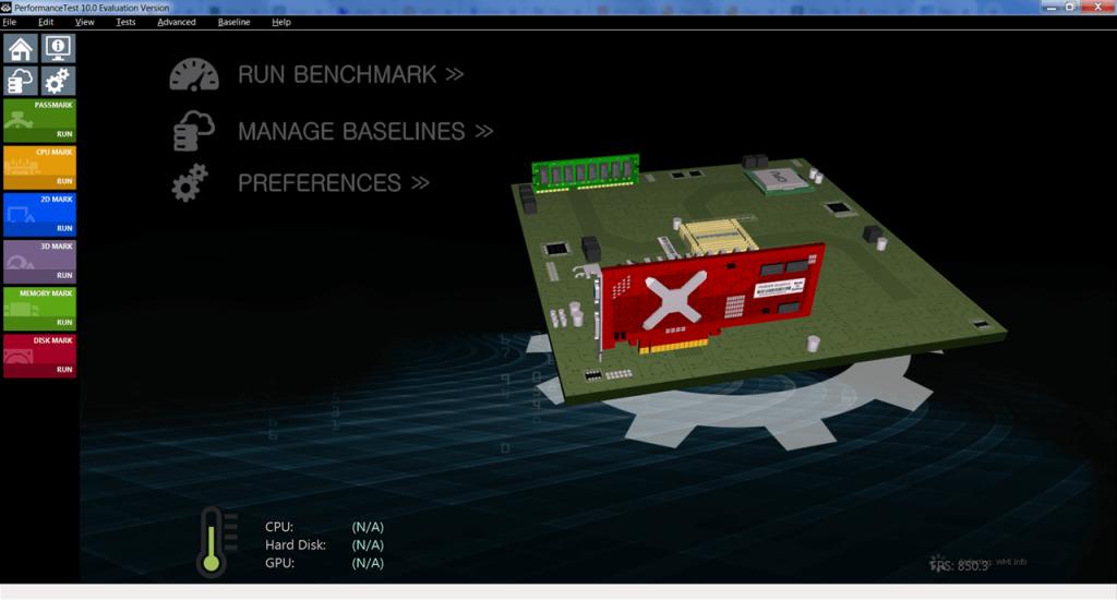 PassMark Performance Test Главная