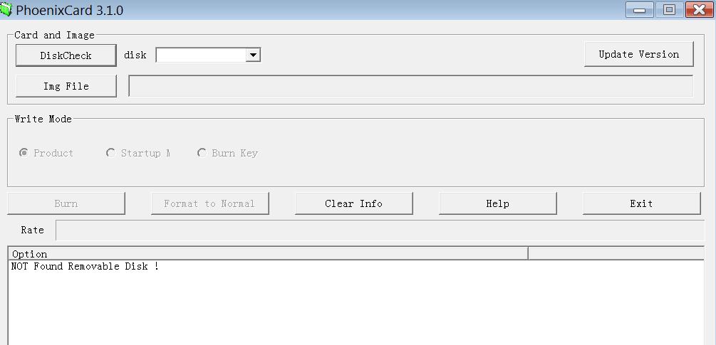 PhoenixCard Главное меню