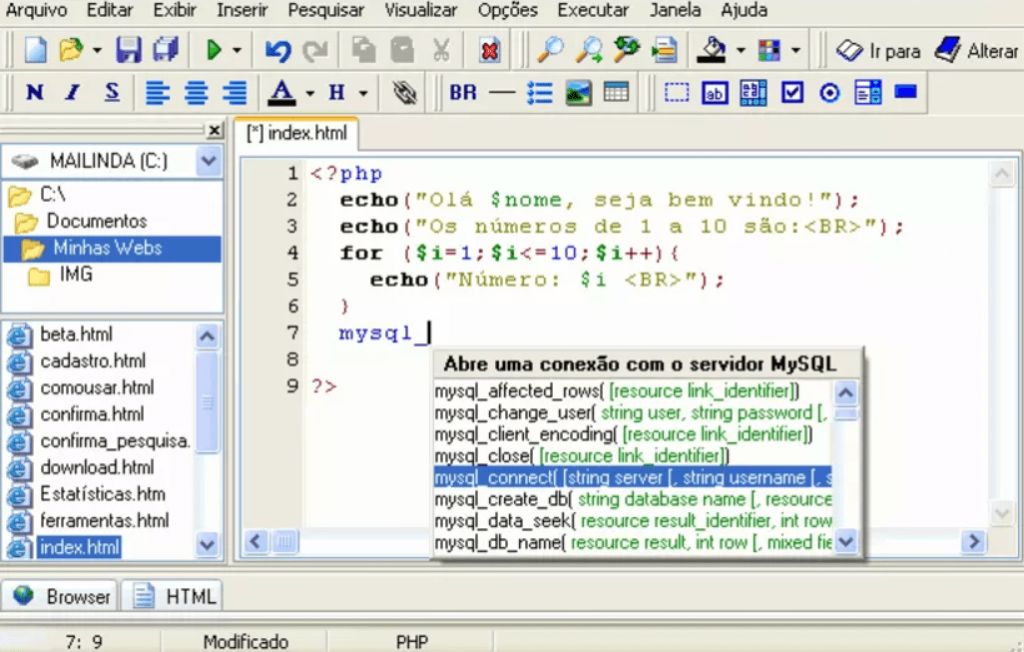 PHP Editor Начало работы