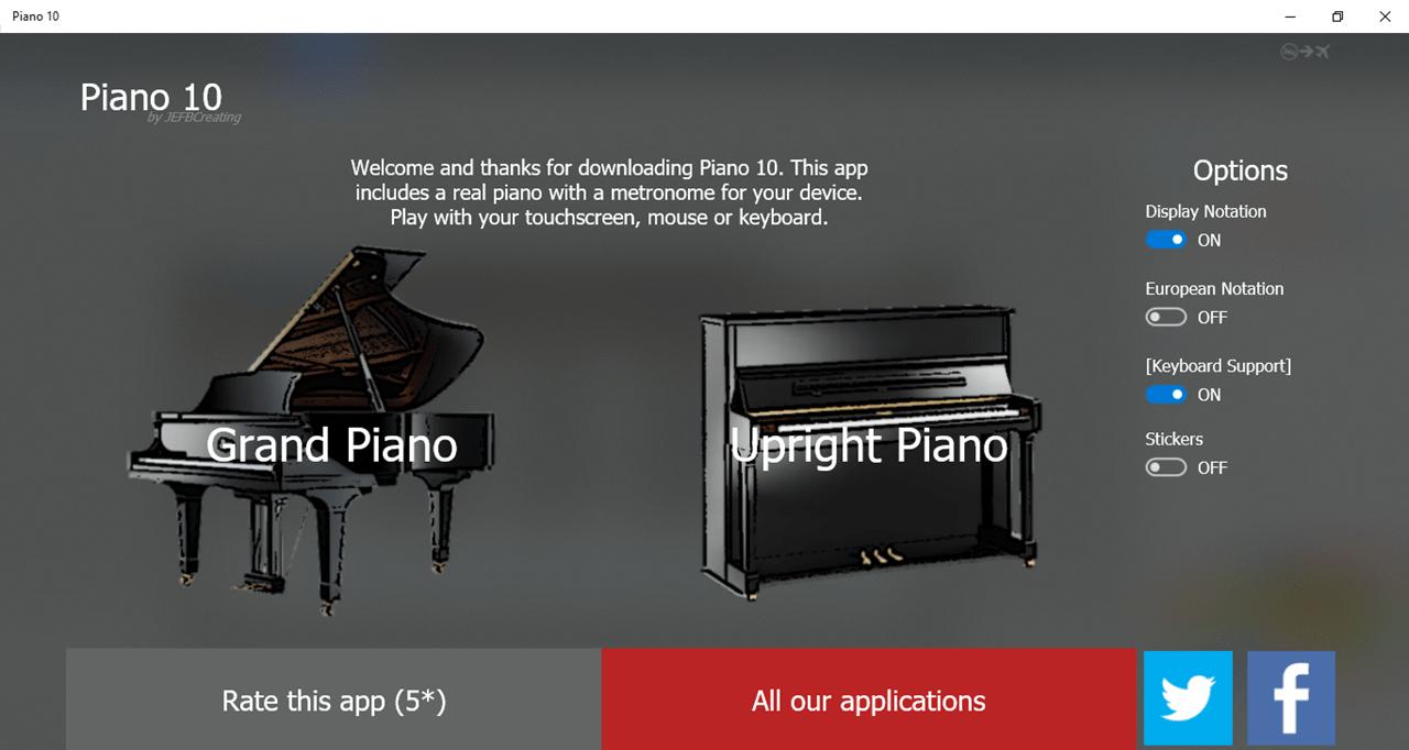 Piano 10 Инструменты