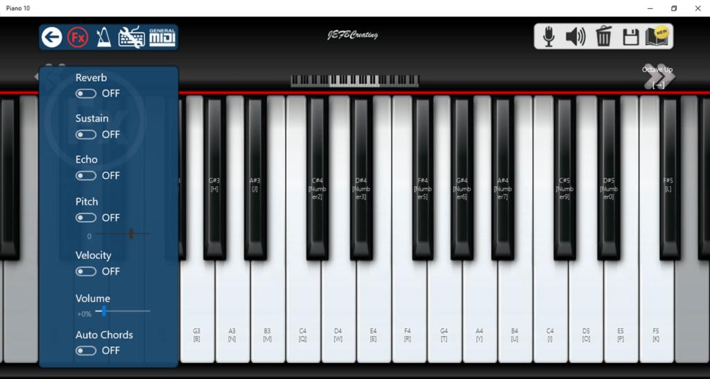 Piano 10 Настройки