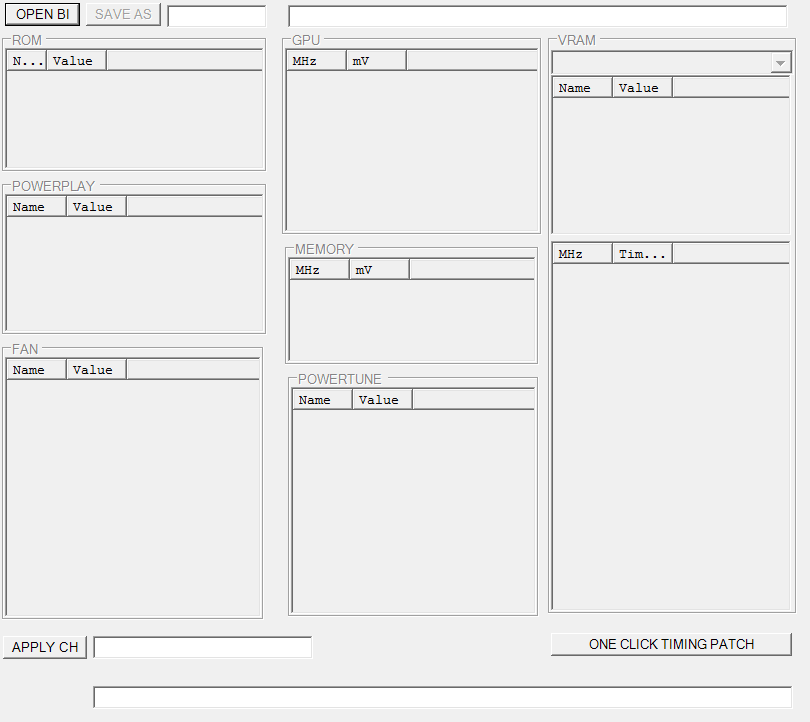 Polaris BIOS Editor Начало работы